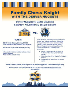 2013 CHESS KNIGHT FLYER