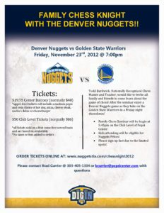 2012 Nuggets Family Chess Knight Flyer
