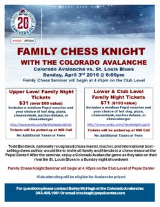 2016 Family Chess Knight Flyer