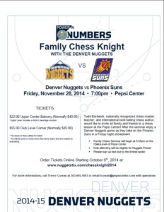 Chess Knight Flyer 2014