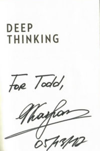 Kasparov autograph
