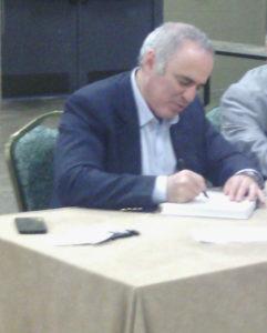 Kasparov signing book - 5-13-17